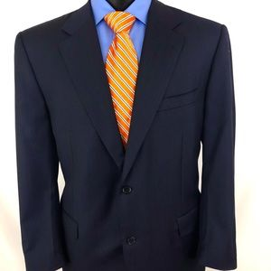 Canali Proposta Sport Coat Blazer Wool Blue 46R